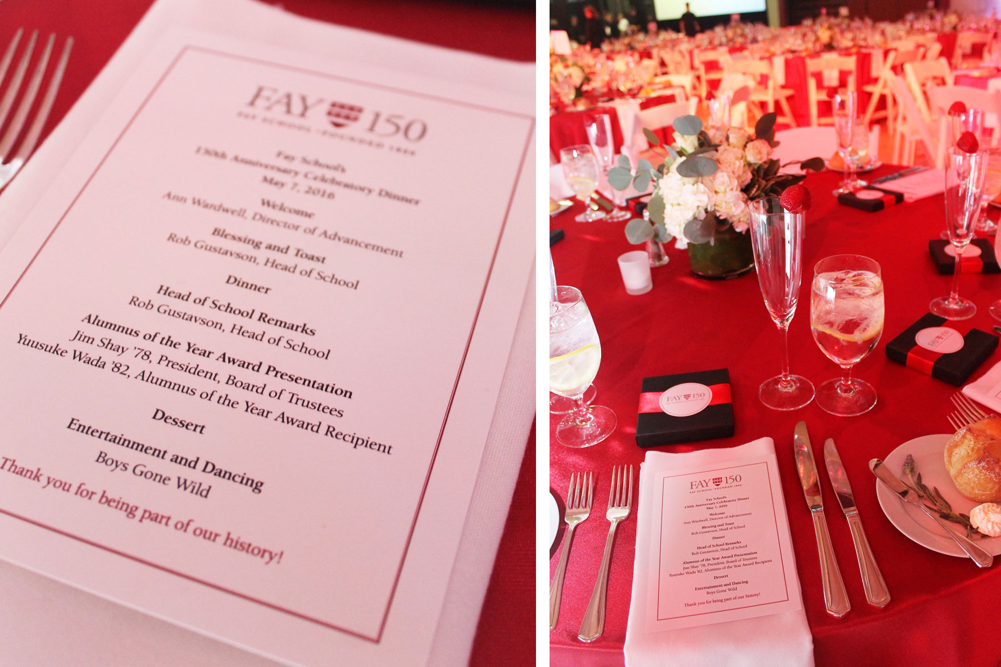 Fay School 150th Anniversary Gala