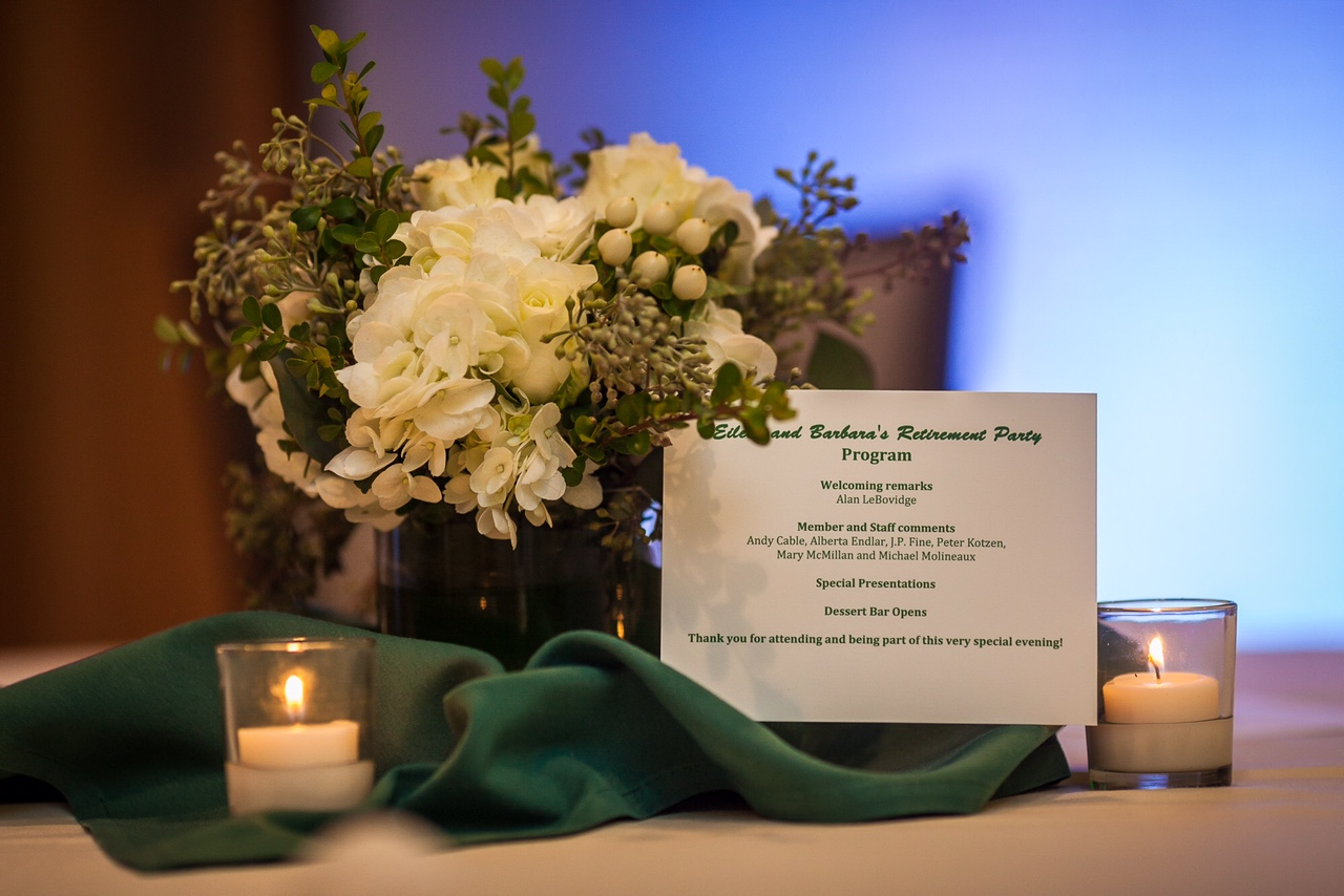 Belmont Country Club Retirement Party | Centerpieces